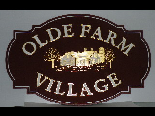old farm village 2 custom sandblasted community sign 23kt gold leaf classic signs nc 320x240
