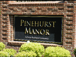 pinehurst manor sandblasted hdu sign 23kt gold prismatic letters classic signs nc 319x238