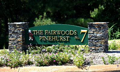 pinehurst wee lad fairwoods 7 community entrance 3d sign classic signs nc 320x240
