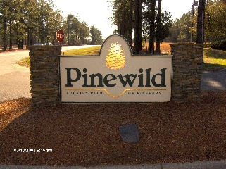 pinewild entrance sandblasted hdu sign with 23kt gold classic signs nc 320x240