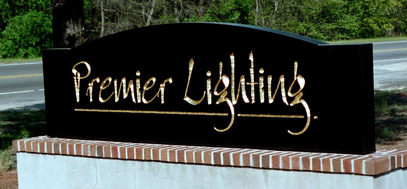 premier lighting hdu monument routed vgroove 23kt gold leaf classic signs nc 800x373