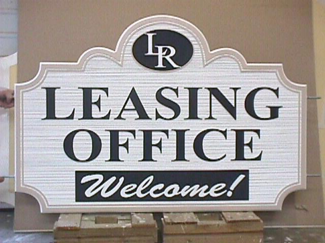 leasing office realtor sandblasted hdu sign from classic signs nc 640x480