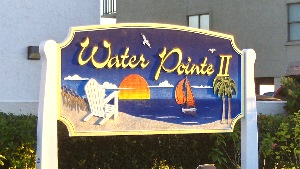 water pointe II sandblasted hdu sign gold leaf carved pine trees chair etc classic signs nc 300x169