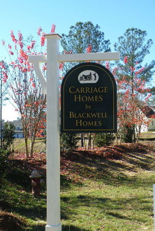 blackwell sandblasted builders site sign classic signs nc 320x240