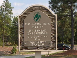 cast avon builders site sign classic signs nc 320x240