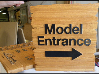 sandblasted cedar natural finish weathered edge schumacher model open classic signs nc 320x240