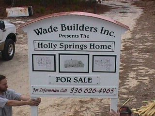 wade builders custom home site sign copper roof clasic signs nc 320x240