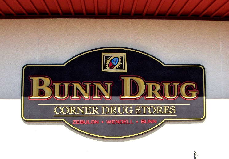bunn drug routed sandblasted shop sign classic signs nc 745x519