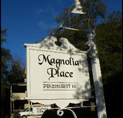 old style village sign remade in pvc magnolia place pvc acrylic classic signs nc 320x240