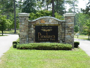 pinelawn cemetary custom cut aluminum letters on aluminum painted 19years old looks new classic signs nc 310x233