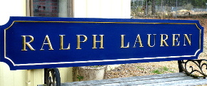 ralph lauren custom sign 23kt gold prismatic letters hand brushed background 2 classic signs nc 320x240