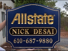 allstate v groove rout sign 23kt gold leaf classicsigns nc 220x165
