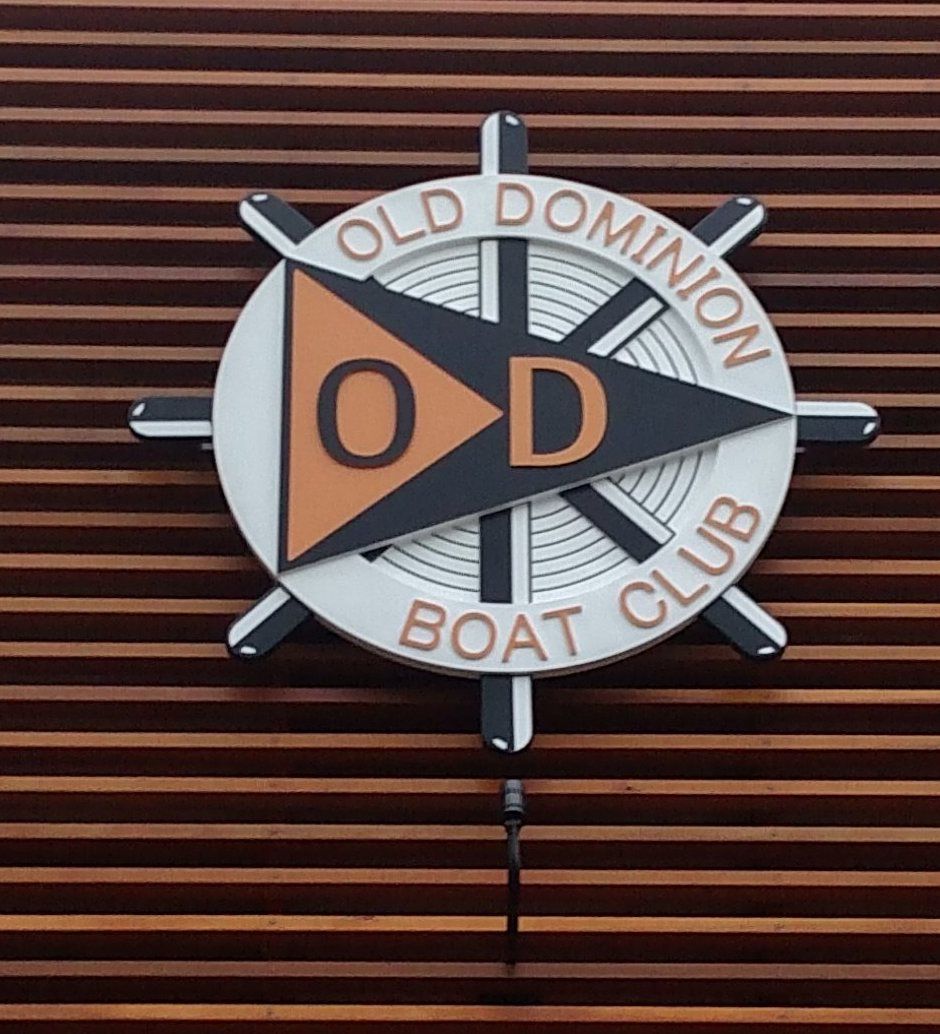 old dominion boat club routed hdu multi level club sign 1crop classic signs nc