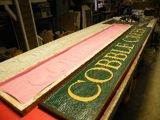 cobble creek molded resin sign cedar unbreakable 320x240