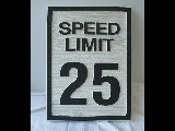25 mph speed limit molded cast polyester sign classic signs nc 160x120