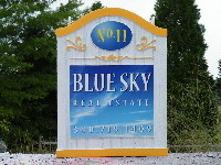 blue sky camargue cast molded sign classic signs nc 200x150
