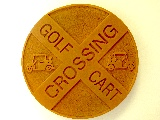 golf cart crossing molded cast golf sign classic signs nc 160x120