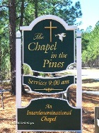 chapel in pines sandblasted church sign with 23kt gold leaf from classic signs nc 140x188
