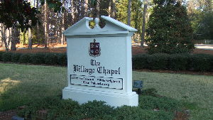 village chapel sandblasted hdu traditional custom sign monument from classic signs nc 300x169