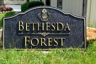 bethesda forest sandblasted community subdivision entrance sign classic signs nc 320x240