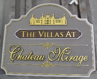 chateau mirage sandblasted and routed community sign classic signs nc1280x1024320x240