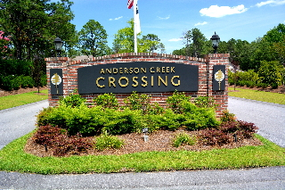 crossings community subdiv entrance sign classic signs nc 320x240