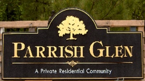 parrish glen 23kt gold leaf sandblasted hdu community sign classic signs nc 300x169
