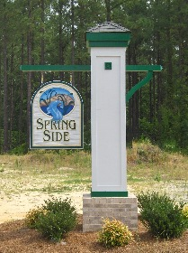 spring side 2 sandblasted hdu hanging sign classic signs nc 209x280