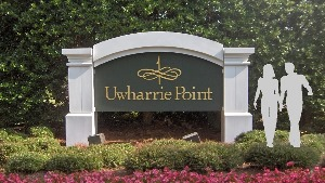 uwharrie point entrance sign pvc monument classic signs nc 300x169