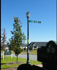 victorian st lamp and sign classic signs nc135x239