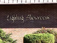 lighting showroom custom cut hdu gold leaf letters classic signs nc 200x150