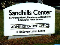 sandhills center custom cut pvc letters on hdu sign monument classic signs nc 200x150