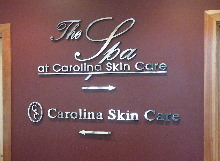 skin care custom cut mirror finish letters from classic signs nc 220x161