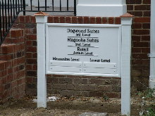 magnolia place 1 pvc sign with acrylic letters classic signs nc 220x165