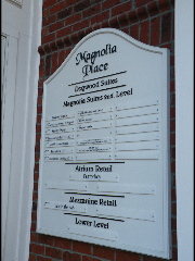 pvc main directory sign magnolia place with removable panels classic signs nc 320x240