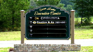seven lakes executive center business directory sandblasted hdu classic signs nc 300x169