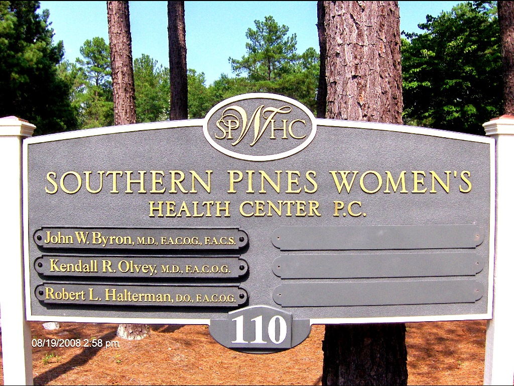 southern pines womens health sandblasted hdu directory sign classic signs nc 1024x768