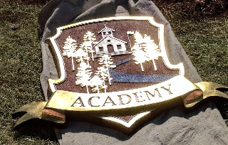 sandblasted hdu 23kt gold and copper leaf academy sign classic signs nc 320x240
