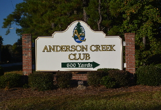 anderson creek golf community 8ftx14ft dimensional pvc sign on 2x8 aluminum frame classic signs nc 320x240