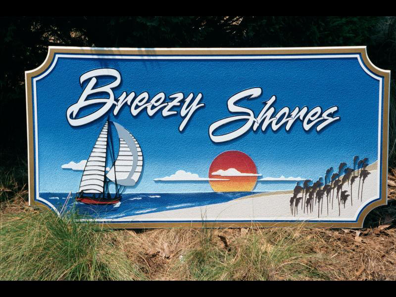 breezy shores sandblasted beach house sign from classic signs nc