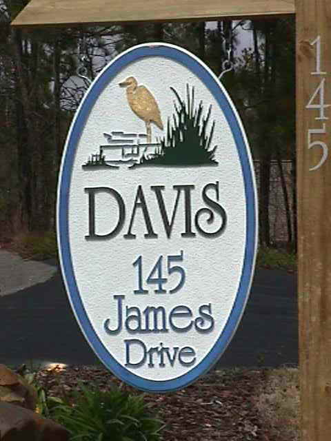 davis sandblasted house sign from classic signs nc