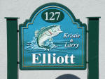 elliot sandblasted house sign bas relief bass stone hdu finish from classic signs nc small