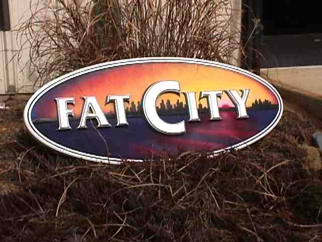 fatcity custom sandblasted house sign with appliqued letters gilded with palladium from classic signs nc