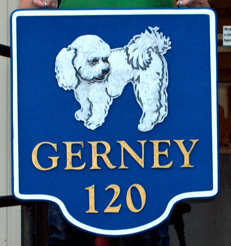 gerney sandblasted bichon house sign from classic signs nc 800x854