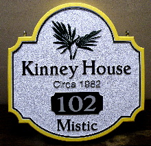 house sign kinney sandblasted hdu classic signs nc 220x180ish