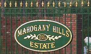 mahogany hills sandblasted hdu house home sign 23kt gold classic signs nc 300x180