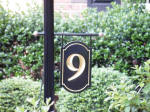 number 9 v grooved house sign finished in black and 23kt gold leaf from classic signs nc small