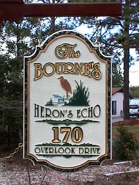 the bournes house home sign sandblasted routed goldleaf classic signs nc 480x640
