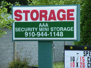 aaa storage internally lit sign classic signs nc320x240