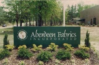 aberdeen fabrics internally lit aluminum business sign classic signs nc 320x240